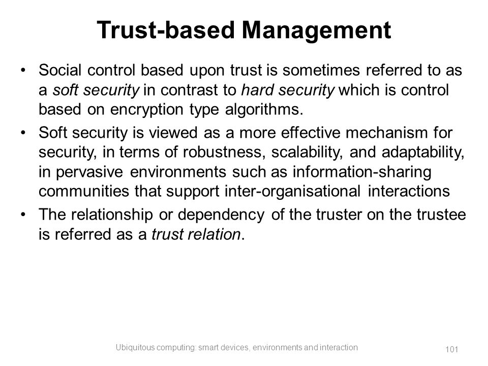 Trust-based Management