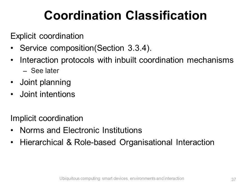 Coordination Classification