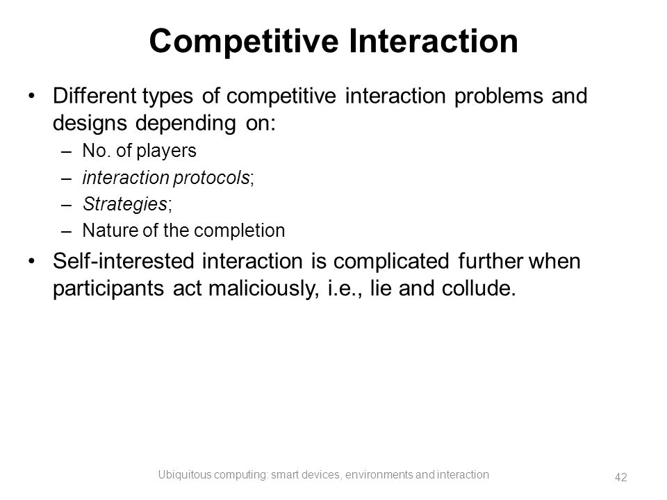 Competitive Interaction