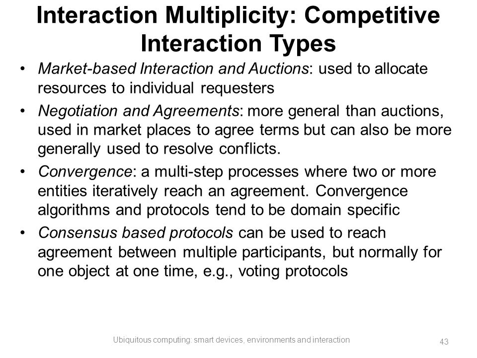 Interaction Multiplicity: Competitive Interaction Types