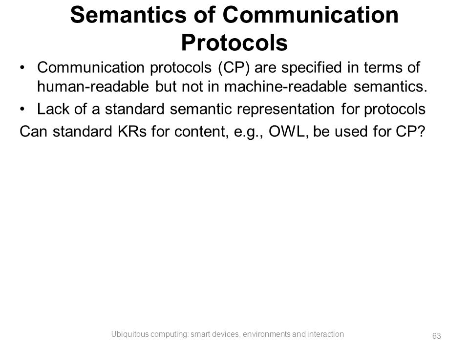 Semantics of Communication Protocols