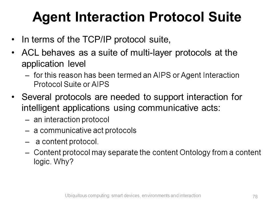 Agent Interaction Protocol Suite