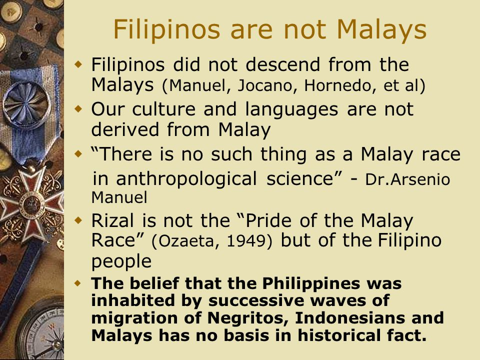 Filipinos are not Malays
