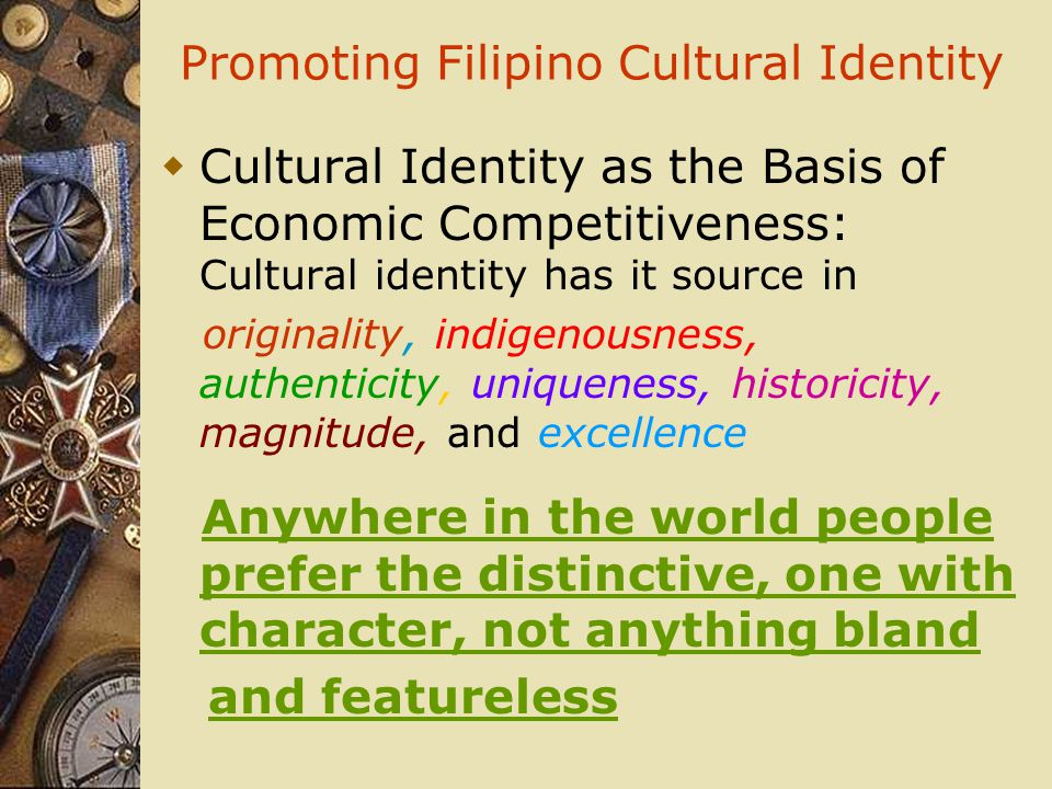 Promoting Filipino Cultural Identity