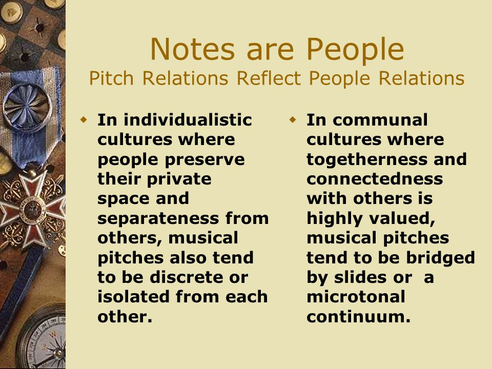 Notes are People Pitch Relations Reflect People Relations
