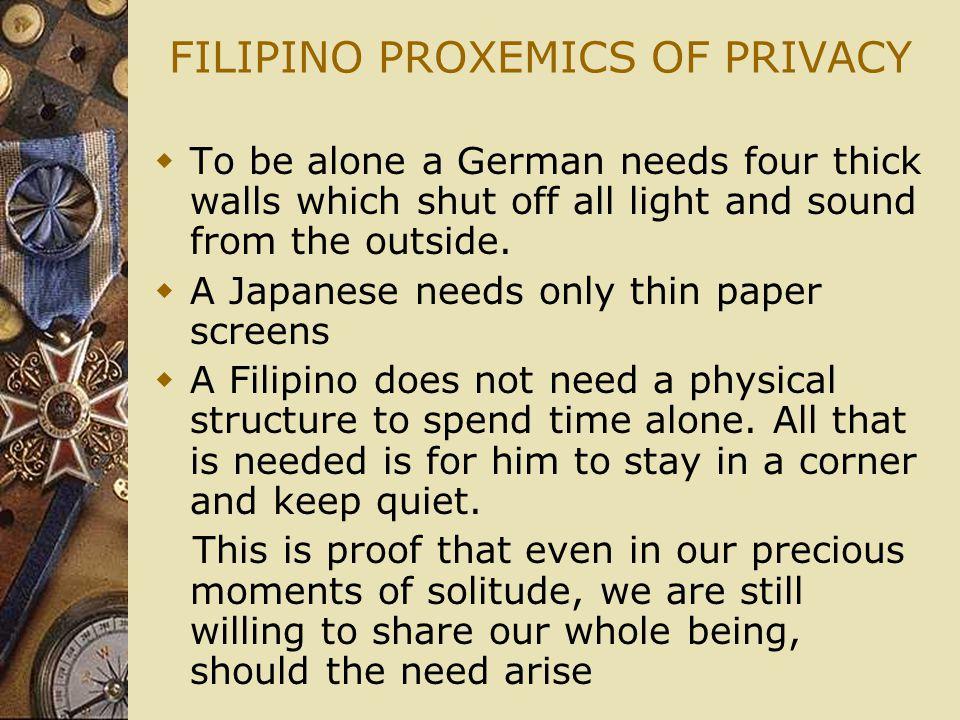 FILIPINO PROXEMICS OF PRIVACY