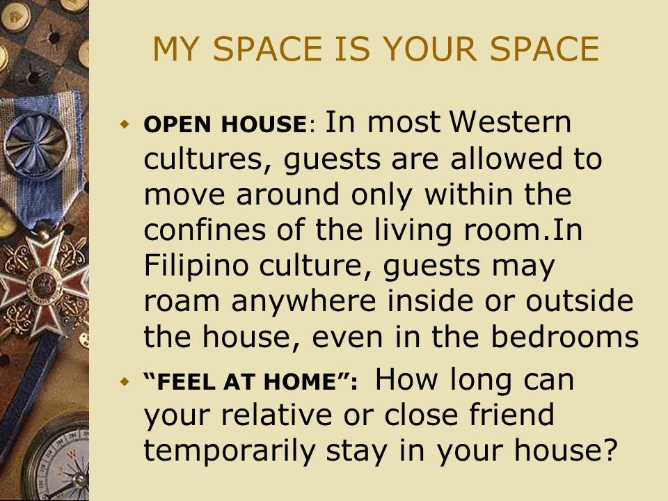 MY SPACE IS YOUR SPACE