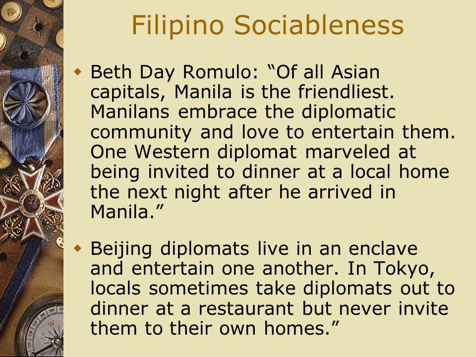 Filipino Sociableness