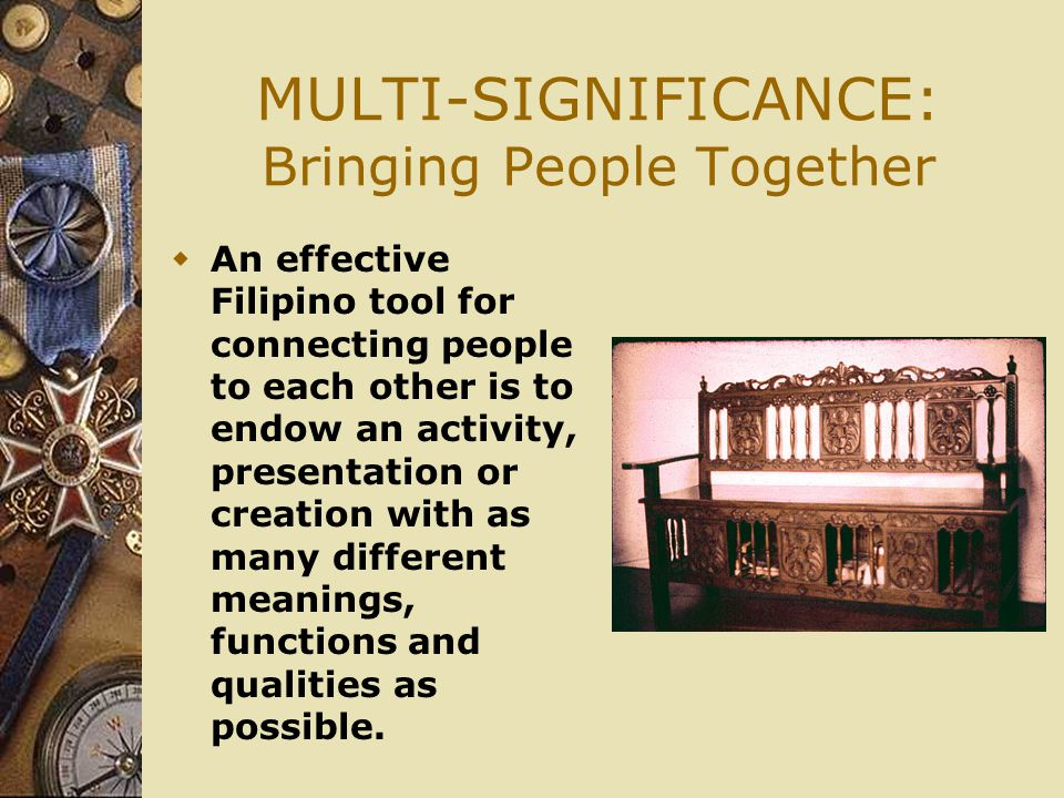 MULTI-SIGNIFICANCE: Bringing People Together