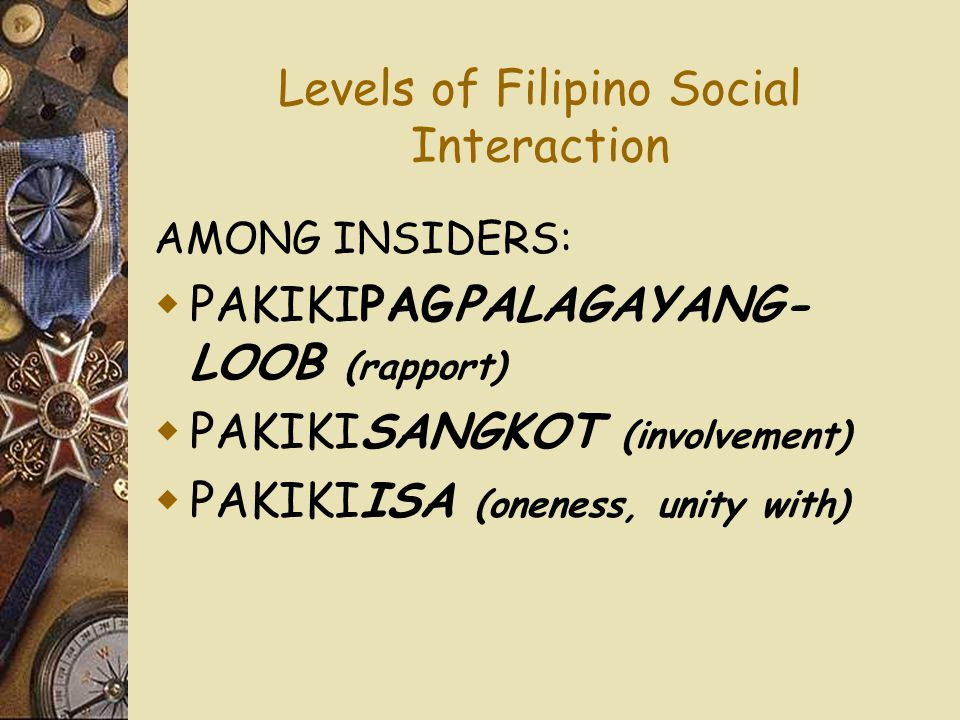Levels of Filipino Social Interaction