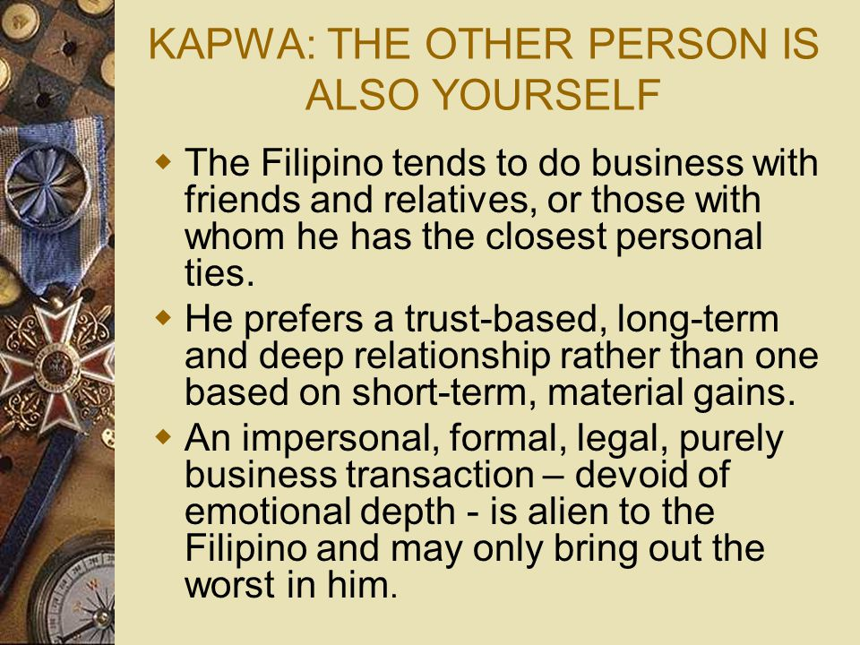 KAPWA: THE OTHER PERSON IS ALSO YOURSELF