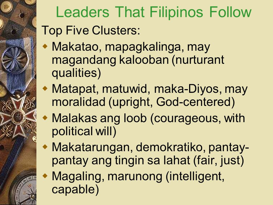 Leaders That Filipinos Follow