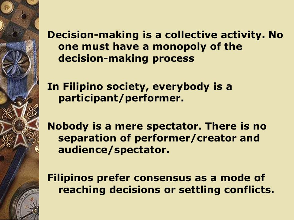 Decision-making is a collective activity
