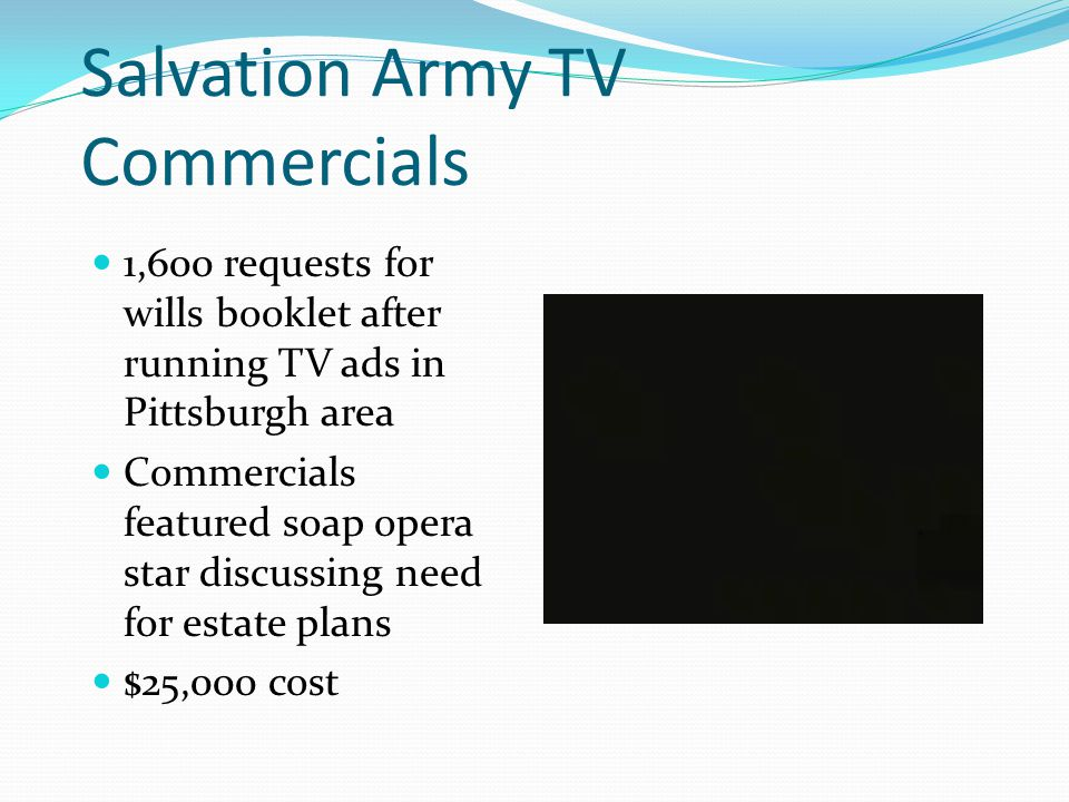 Salvation Army TV Commercials