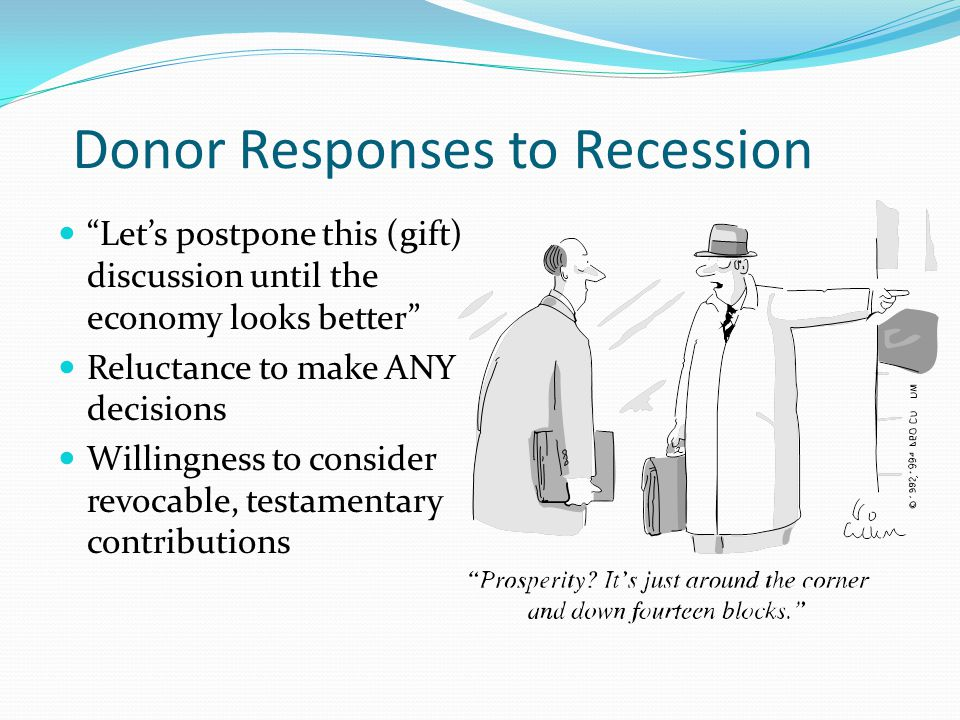 Donor Responses to Recession