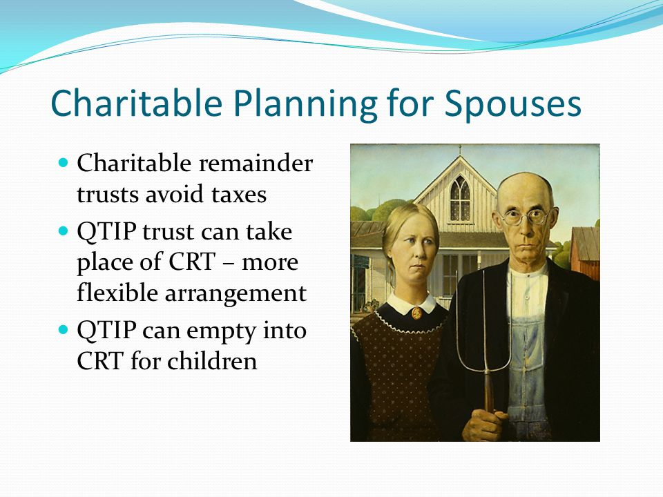 Charitable Planning for Spouses