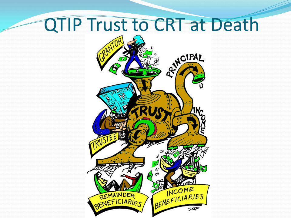 QTIP Trust to CRT at Death