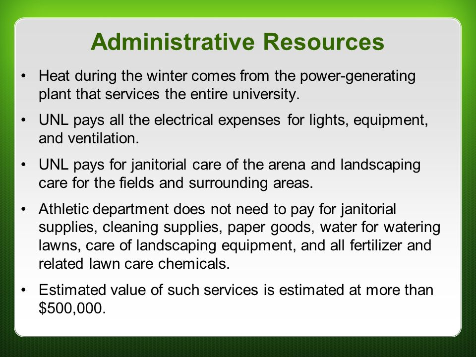 Administrative Resources