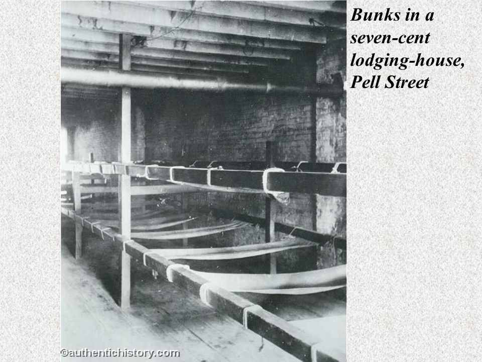 Bunks in a seven-cent lodging-house, Pell Street