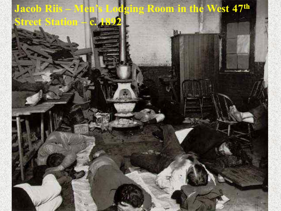 Jacob Riis – Men's Lodging Room in the West 47th Street Station – c
