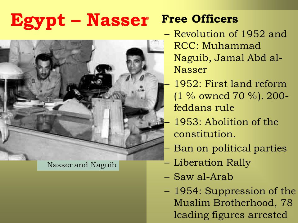 Egypt – Nasser Free Officers