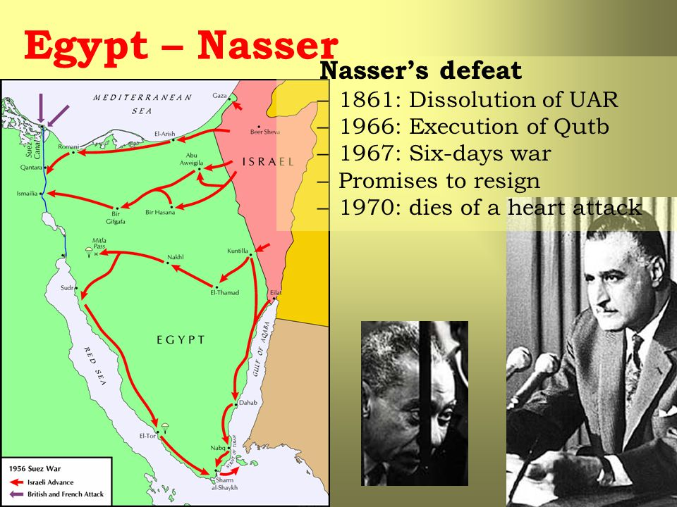 Egypt – Nasser Nasser's defeat 1861: Dissolution of UAR