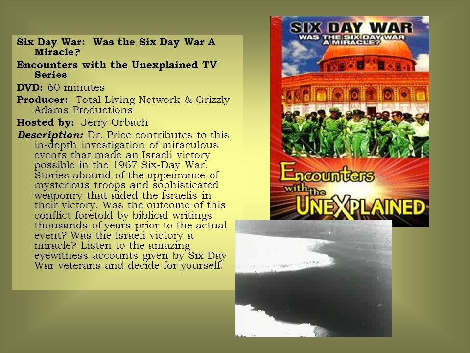 Six Day War: Was the Six Day War A Miracle