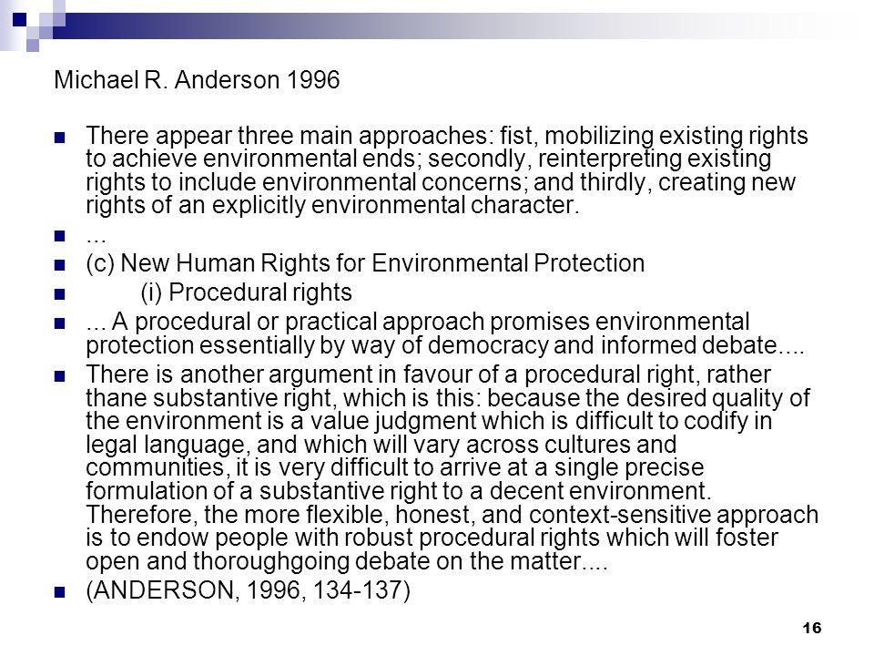 Michael R. Anderson 1996