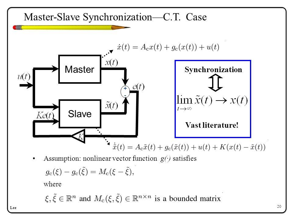 Master-Slave Synchronization—Sampled-data Case