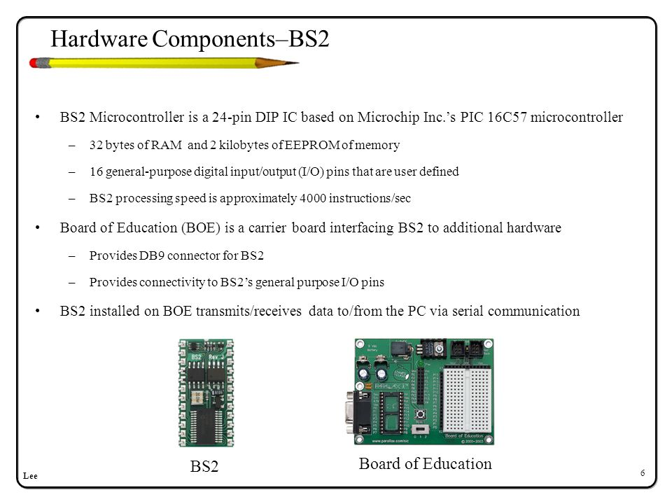 Hardware Components–Serial Communication