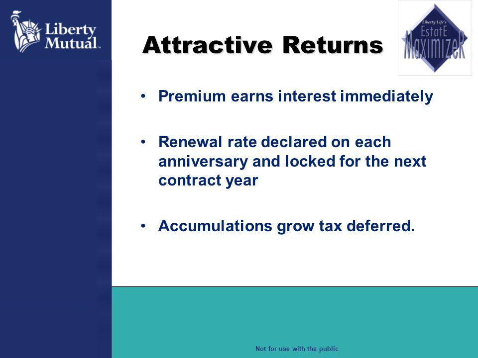 Attractive Returns Premium earns interest immediately