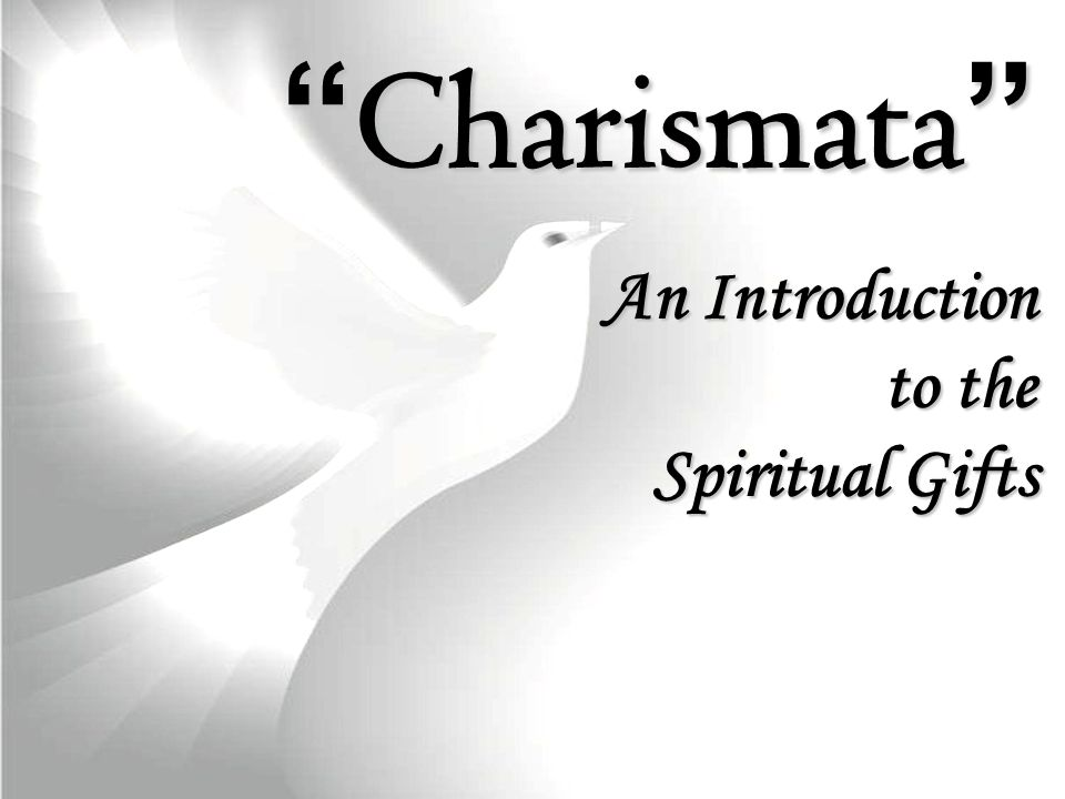 Charismata An Introduction to the Spiritual Gifts