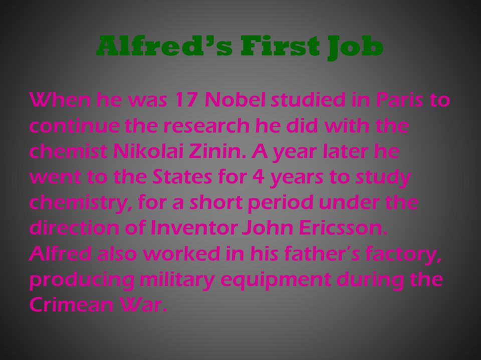 Alfred's First Job