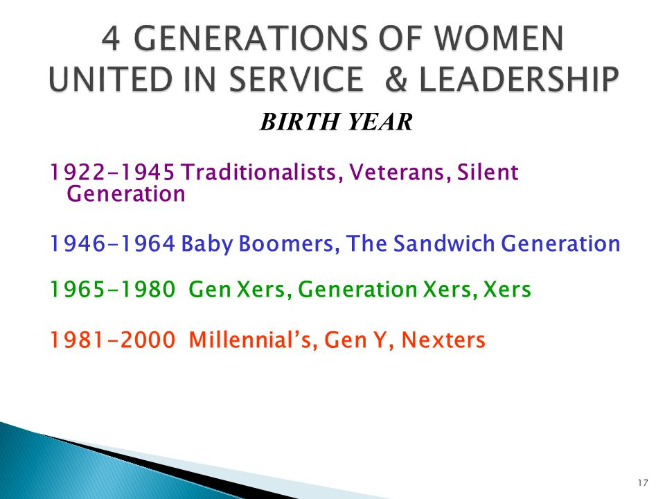 4 GENERATIONS OF WOMEN UNITED IN SERVICE & LEADERSHIP