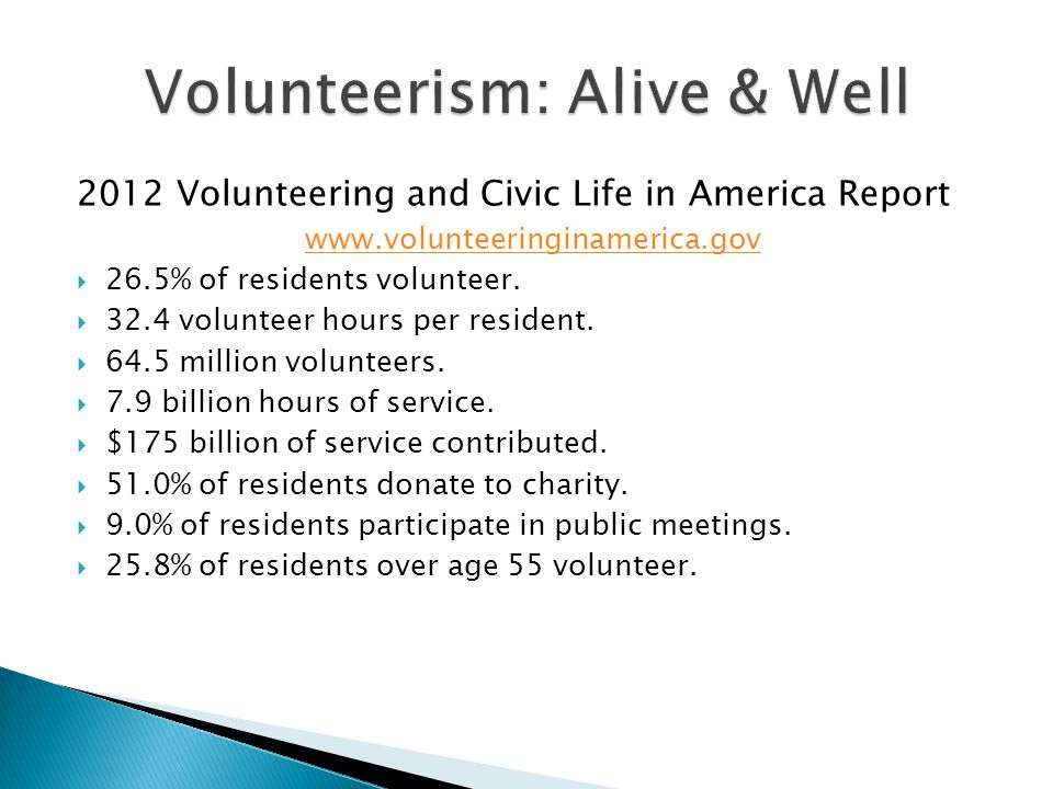 Volunteerism: Alive & Well