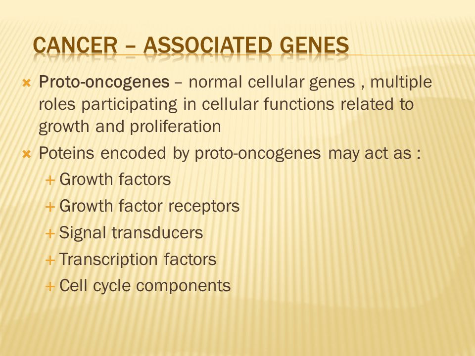 CaNCER – ASSOCIATED GENES