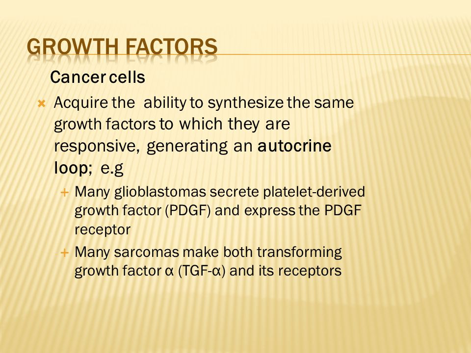 growth factors Cancer cells
