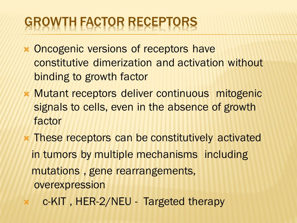 growth factor receptors