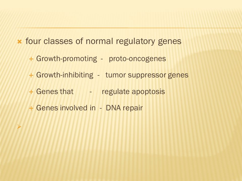 four classes of normal regulatory genes