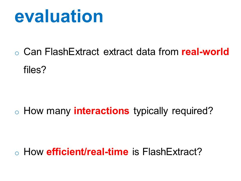 evaluation Can FlashExtract extract data from real-world files