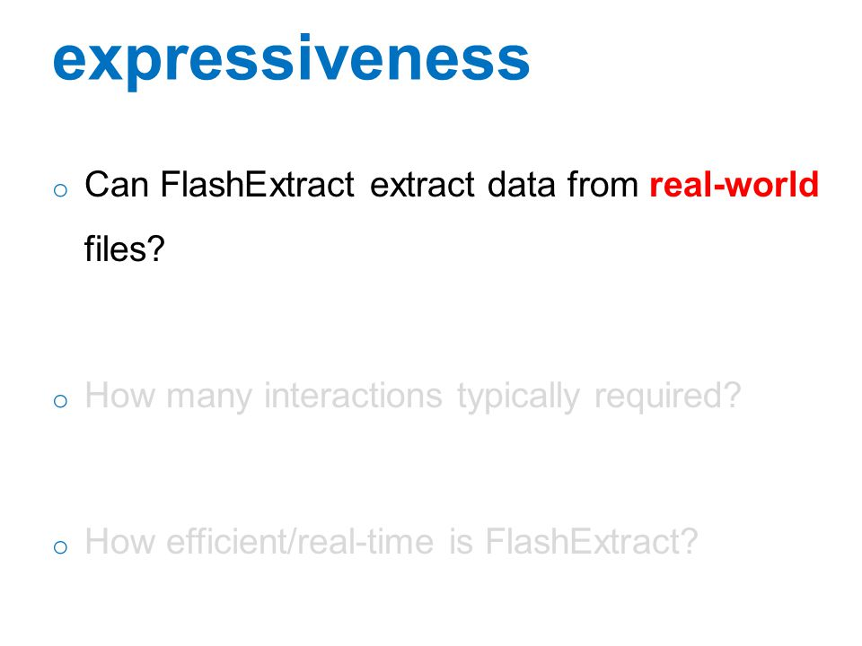 expressiveness Can FlashExtract extract data from real-world files