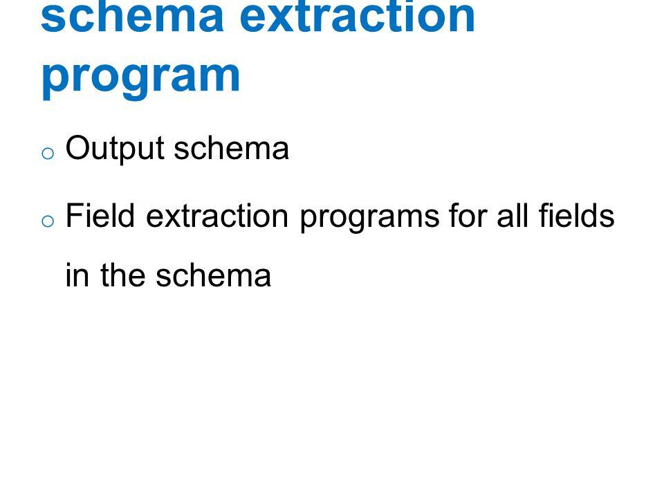 schema extraction program