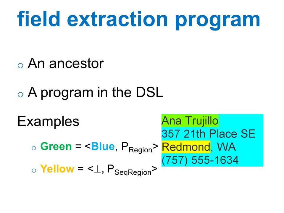 field extraction program