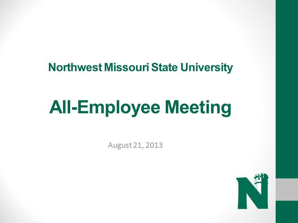 Northwest Missouri State University All-Employee Meeting