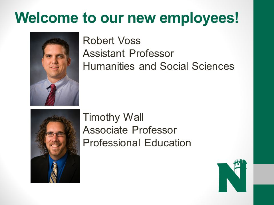 Welcome to our new employees!