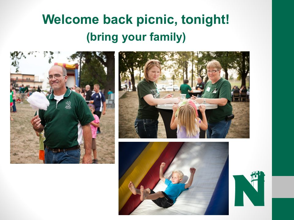 Welcome back picnic, tonight!