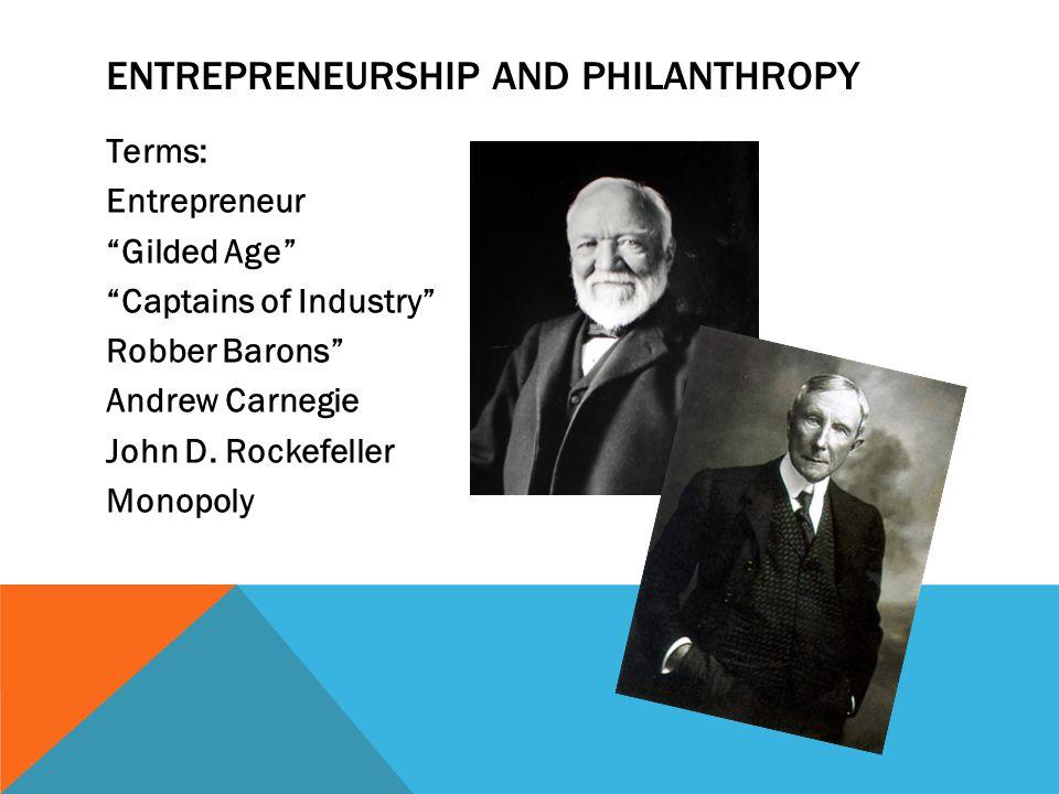 Entrepreneurship and philanthropy