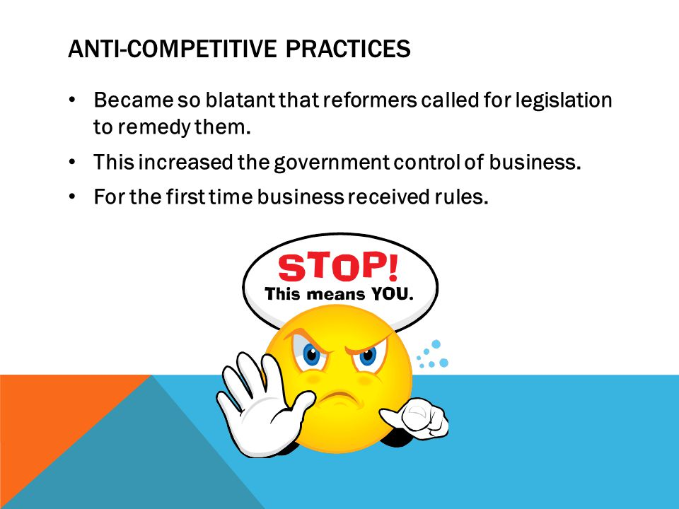 Anti-competitive practices