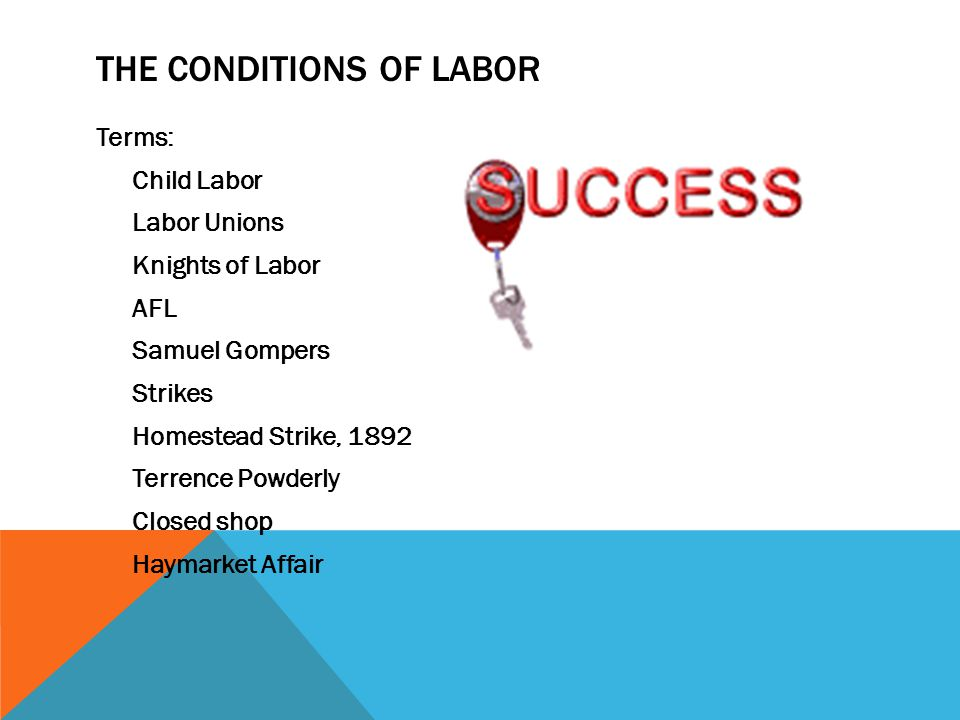 The Conditions of Labor