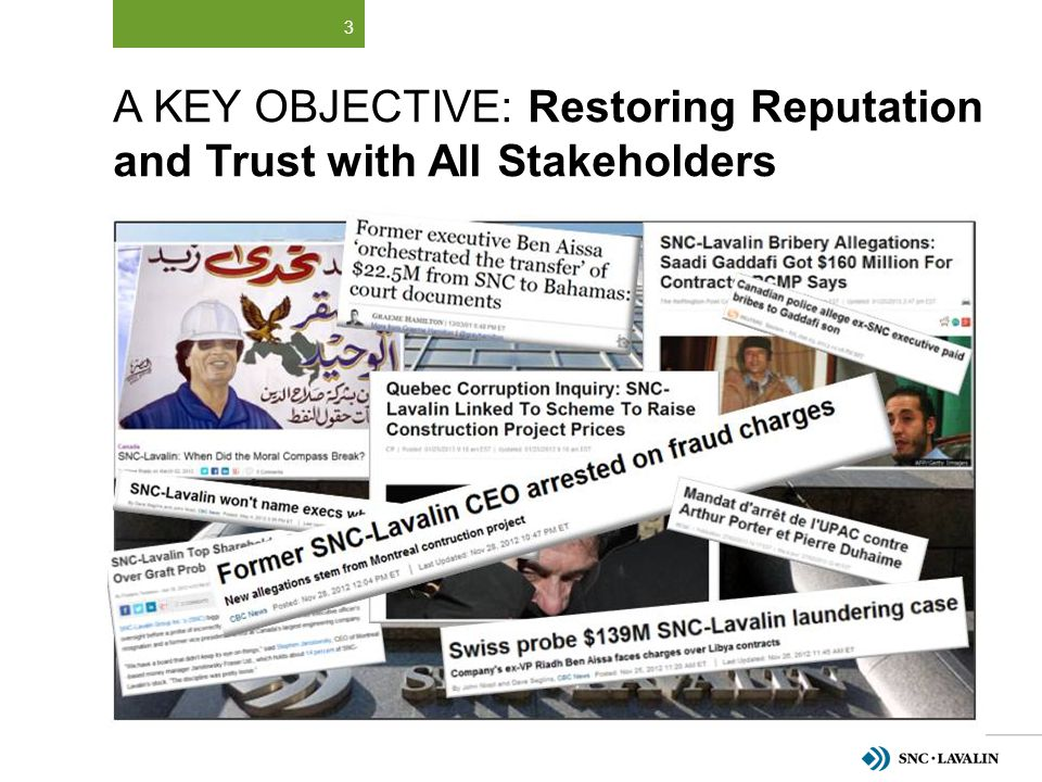 A Key Objective: Restoring Reputation and Trust with All Stakeholders